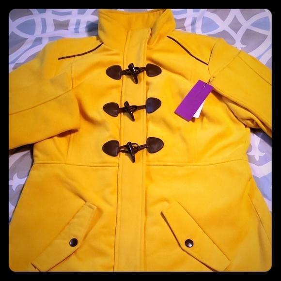 Rampage Jackets & Blazers - NWT Rampage Toggle Coat Size Large